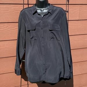 Express Long Sleeve Button Front Collared LG Shirt